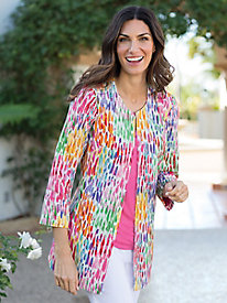 Women's Rainbow of Raindrops Jacket by 3 Sisters