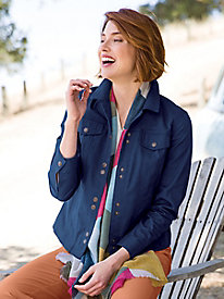 Women's Stretch Twill Jean Jacket