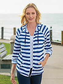 Women's Painted Stripe French Terry Jacket
