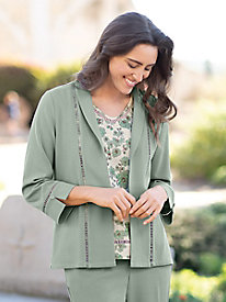 Women's Look of Linen Jacket