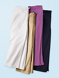 Women's Slimming Stretch Twill Capris