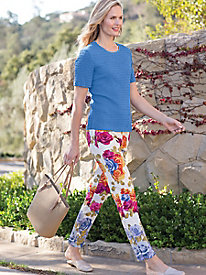 Women's SlimSation Floral Ankle Pants