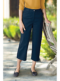 Women's Wide Leg Stretch Twill Crops