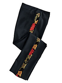 Women's Embroidered Side Knit Pants