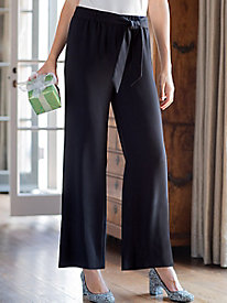 Women's Crepe Wide Leg Pants