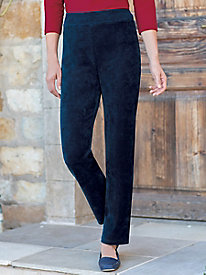 Women's Corded Velour Pull On Knit Pants