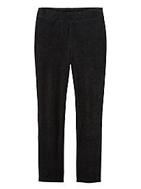 Women's Corded Velour Pull On Knit Pants
