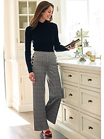 Women's Plaid Pull On Knit Pants
