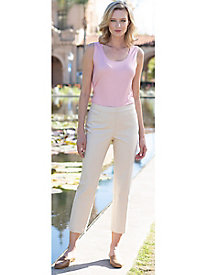 Women's Satin Twill Slim Ankle Pants