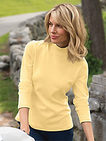 Women's Basic Mockneck Tee by Norm Thompson