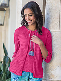 Women's Crinkle Essentials Knit Cardigan