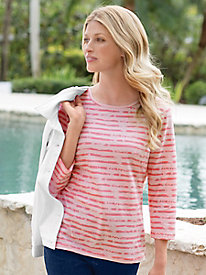 Women's Prima Painted Stripe Tee
