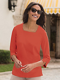 Women's Prima Square-Neck Knit Top