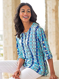 Women's Blue Sea Medallion Top