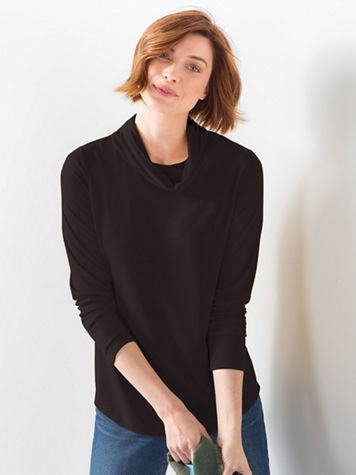 Women's Cowlneck Knit Top - Image 1 of 2