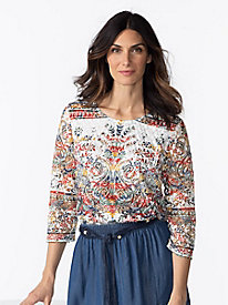 Women's Lace and Layers Knit Top