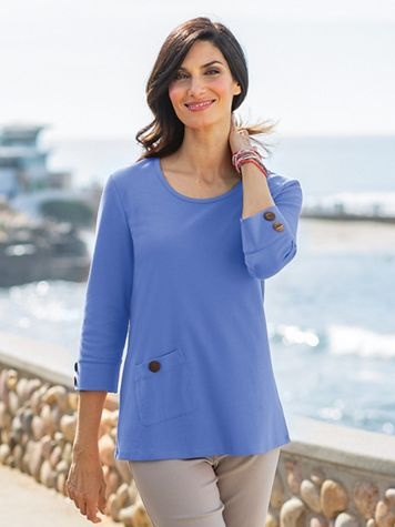 Women's Sahara Side Button Top
