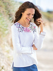 Women's Dahlia Embroidery Top