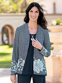 Women's Reversible Knit Cardigan
