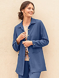 Women's Crinkle Shirt Jacket