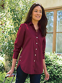 b7a65db213637 4 Women s Foxcroft Wrinkle-Free Side-Button Long-Sleeve Tunic
