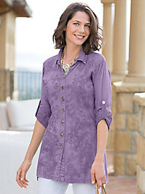 Women's Be-Broidery Button-Down Tunic