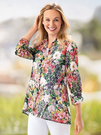 Women's Spring Swing Floral Tunic - Image 1 of 2