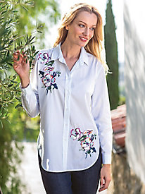 Women's Joules Laurel Embroidered Shirt