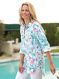 Women's Joules Jeanne Printed Linen Shirt