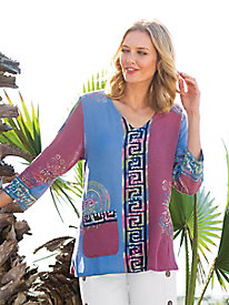 Women's Bali Blush Batik Top