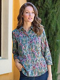Women's Foxcroft Dot Paisley Shirt