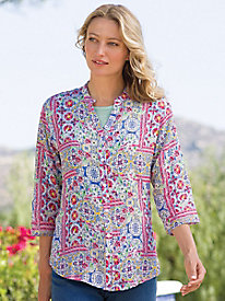 Women's Patchwork Medallion Blouse
