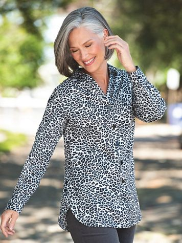 Foxcroft Animal Side-Button Tunic - Image 1 of 3