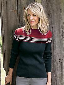 Women's Colorblock Mockneck Sweater