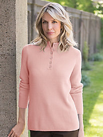 Women's Soft Luxe Henley Sweater