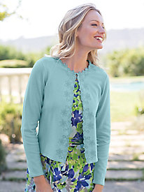 Women's Embroidered Floral Cardigan