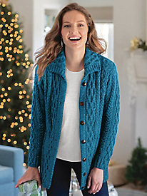 Women's Irish Wool Cardigan