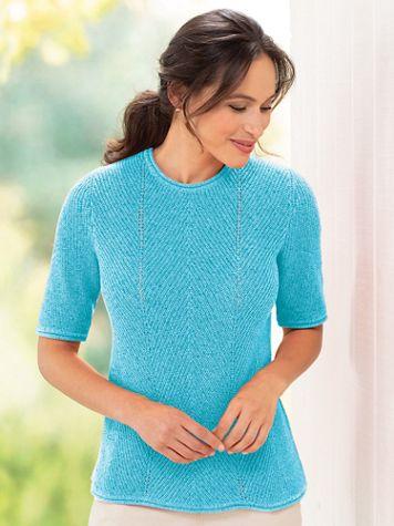 Women's Linen/Cotton Sweater Tee - Image 1 of 1