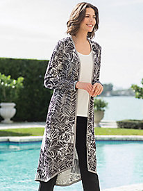 Women's Ibiza Abstract Palms Duster