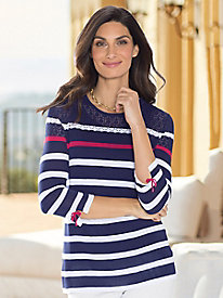 Women's Nautical Stripe Pullover Top