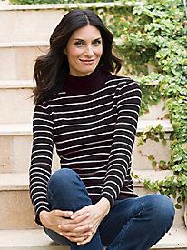 Women's Anywear Fave Stripe Turtleneck Sweater