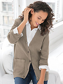 Women's Favorite Silk Cotton Cardigan Sweater