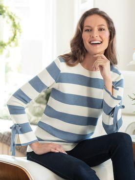 Women's Joules Myanna Tie Sleeve Sweater