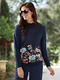 Women's Joules Penny Embroidered Sweater