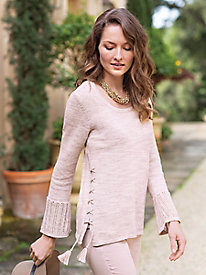 Women's Tribal Soft Pink Sweater