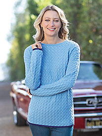 Women's Herringbone Pullover Sweater