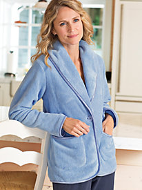 Women's Plush Cardigan Lounger