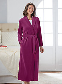 Women's Velour Wrap Robe