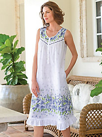 Women's La Cera Floral Cotton Nightgown