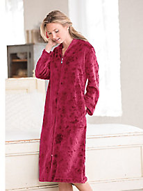 Women's Karen Neuburger Embossed Plush Robe